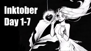 INKTOBER 2019 | Days 1-7