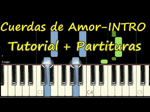 CUERDAS DE AMOR INTRO Piano Tutorial Version Extendida + Partitura PDF Sheet Music thumbnail