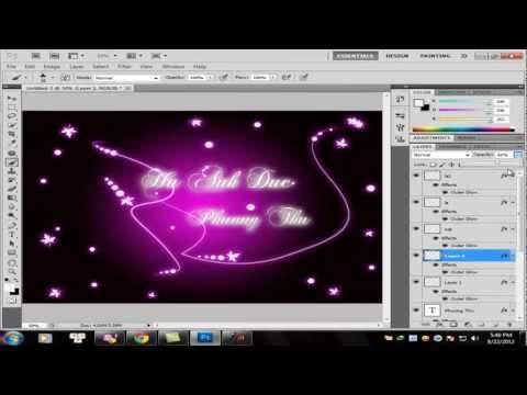 học photoshop Tạo hiệu ứng text phát sáng