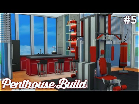 The Sims 4: Let's Build a Penthouse (Part 5) Gym + Basketball Court