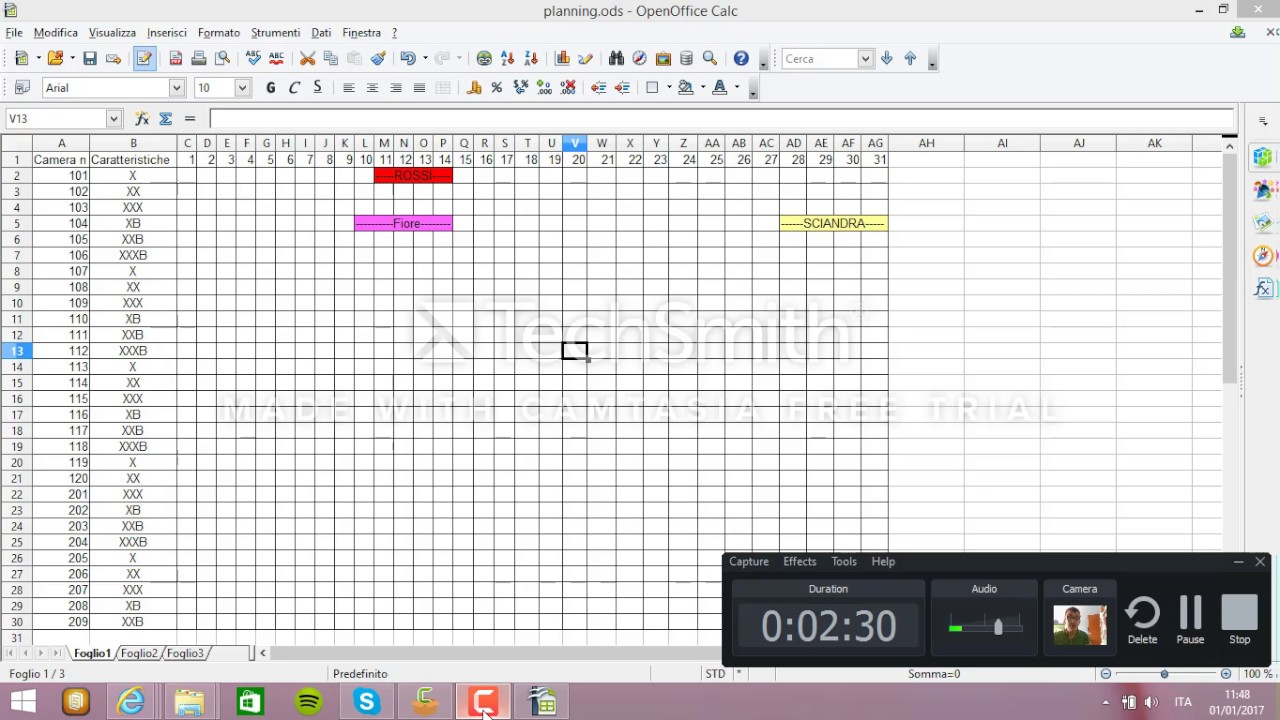 Il Planning Con Excel Youtube