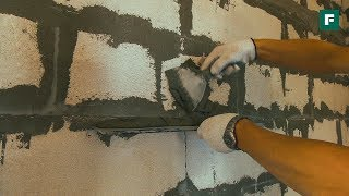 Плиточный клей вместо штукатурки. Строительные лайфхаки