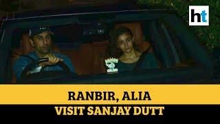 Ranbir Kapoor, Alia Bhatt visit Sanjay Dutt; Malaika Arora, others spotted