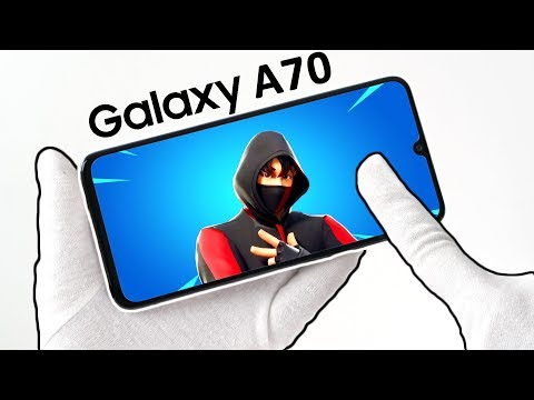 Samsung Galaxy A70 Phone Unboxing - Fortnite Battle Royale, Free Fire, PUBG