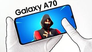 Samsung Galaxy A70 Teléfono Unboxing - Fortnite Battle Royale, Fuego Libre, PUBG