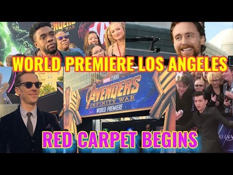 AVENGERS INFINITY WAR WORLD PREMIERE RED CARPET BEGINS | ALL STARS PRESENT IN LOS ANGELES