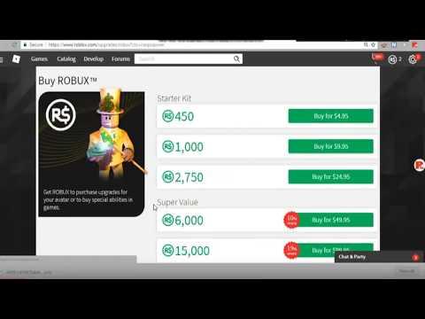 niño compra 1,000,000 de robux con la tarjeta de credito de su mama... (roblox)