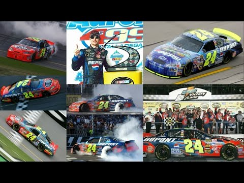 All 4 of Jeff Gordon's Wins in 2005 (Finishes) Jeff Gordon E