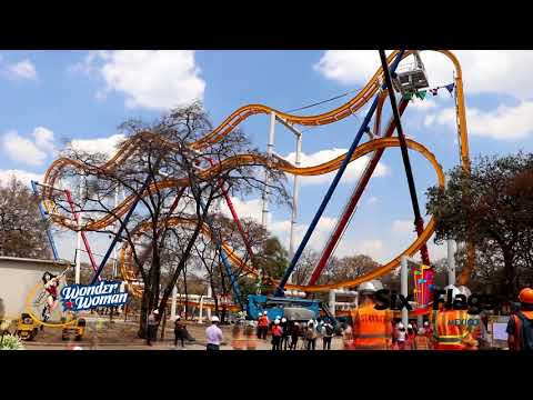 WONDER WOMAN COASTER - CONSTRUCCIÓN COMPLETA | SIX FLAGS MÉXICO