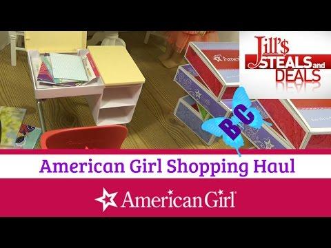 American Girl Shopping Haul | Jill's Steals And Deals Discount | Flip Top Desk | Buterflycandy