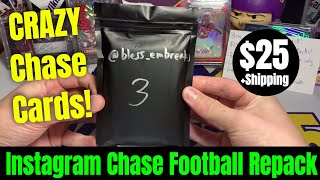Bless Em Breaks Football Mystery Chase Repack   INSANE Chase Cards In This 25 Pack Series! Round 2!