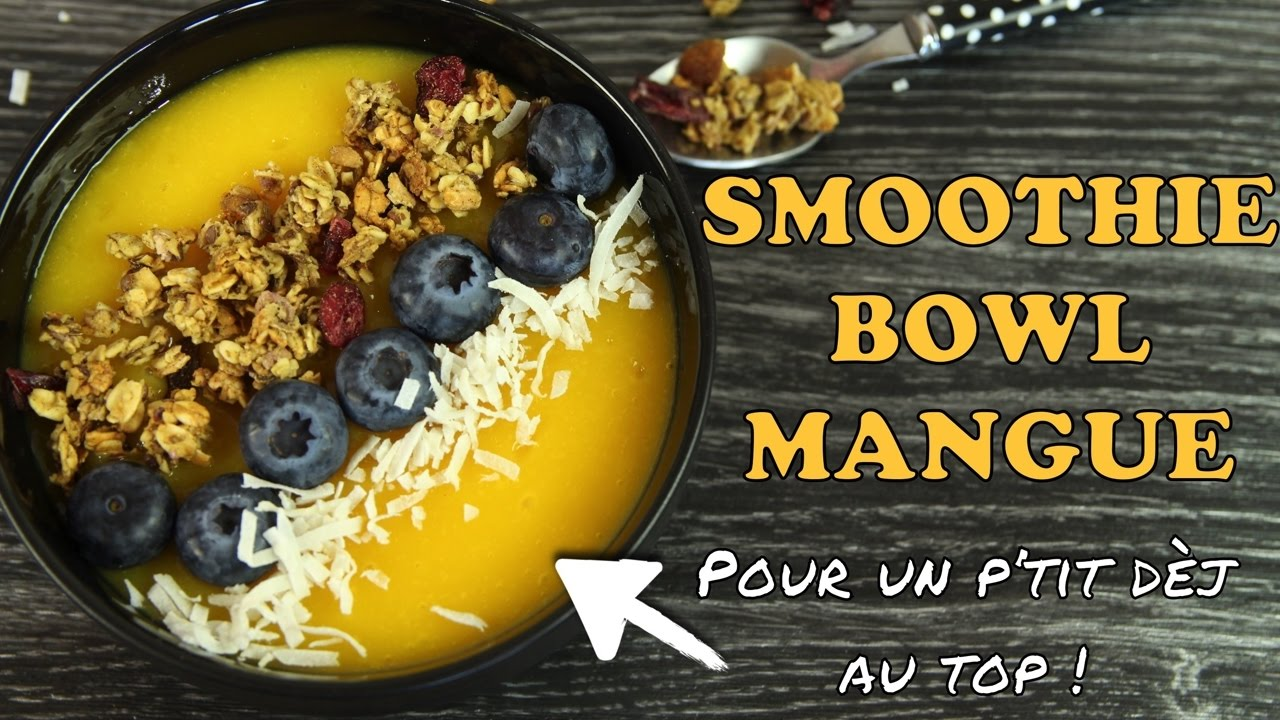 recette healthy smoothie bowl petit dejeuner rapide youtube. Black Bedroom Furniture Sets. Home Design Ideas