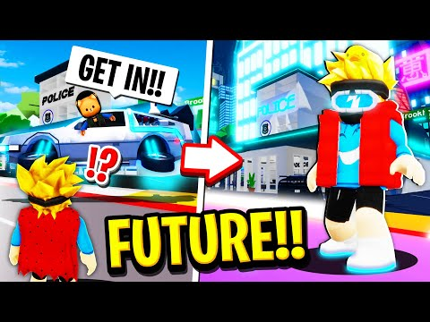 We Time Travelled to the FUTURE in Roblox BROOKHAVEN RP!!