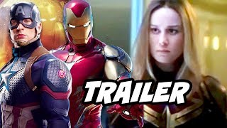 Avengers Endgame Trailer 2 Captain Marvel Scenes Breakdown