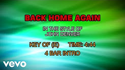 John Denver - Back Home Again (Karaoke)