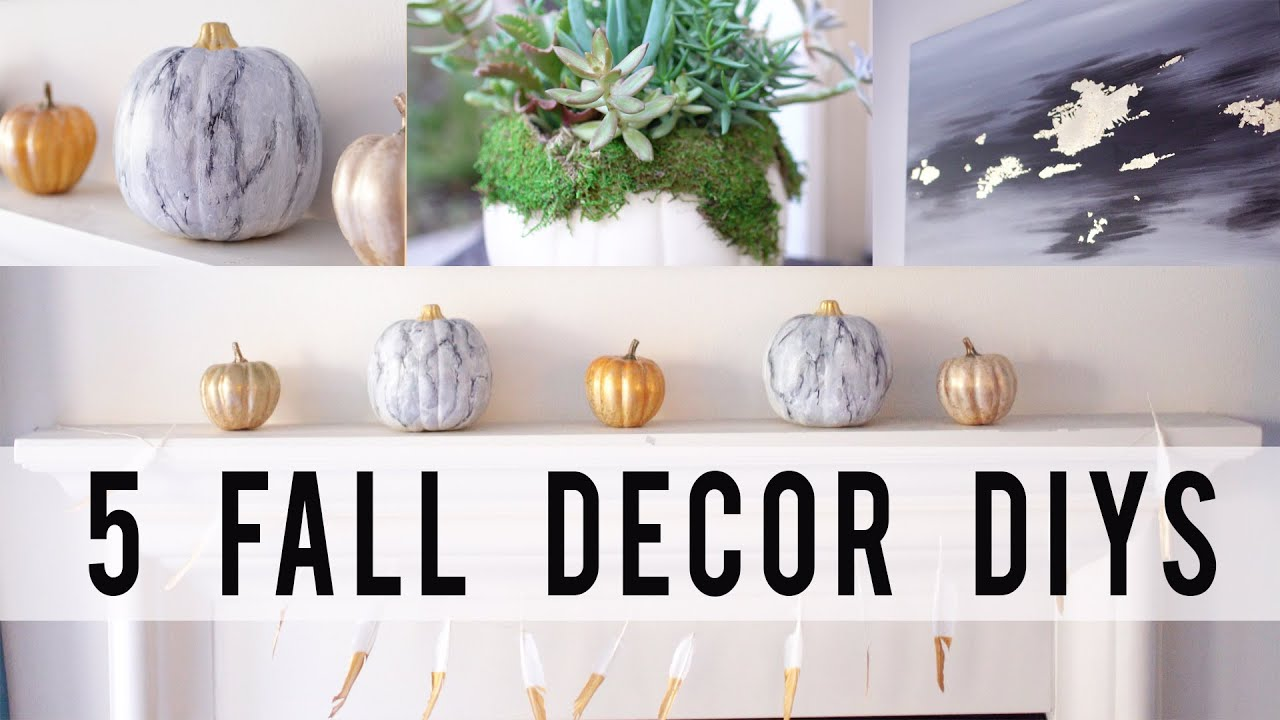5 FALL HOME DECOR DIY PROJECTS | Contemporary Style | ANN LE - YouTube