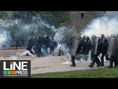 Manifestation NDDL très violents affrontements / Nantes (44) - France 14 avril 2018
