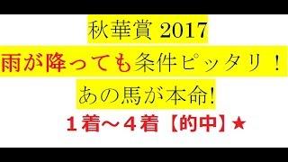 秋華賞2017【最終予想】雨が降っても条件ピッタリ! あの馬が本命!
