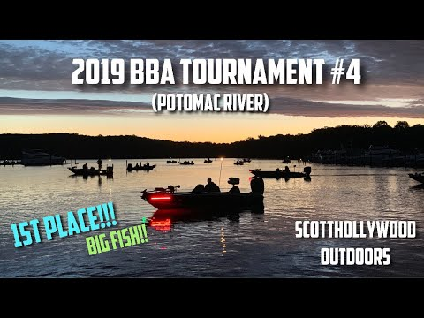 2019 BBA Bass Fishing Tournament #4 (Potomac River)   FIRST PLACE!!