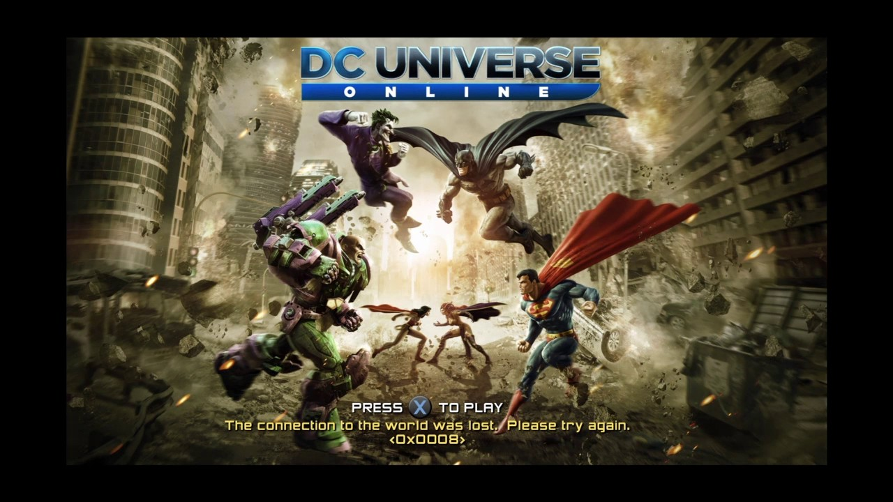 dcuo connecting to login server