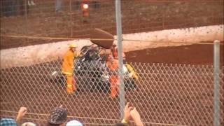 Speedway Crash  Simpson Speedway18-2-2012 Jason Kavanagh