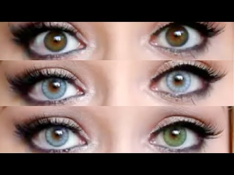 Desio Contact Lenses For Dark Eyes Allybabe Youtube
