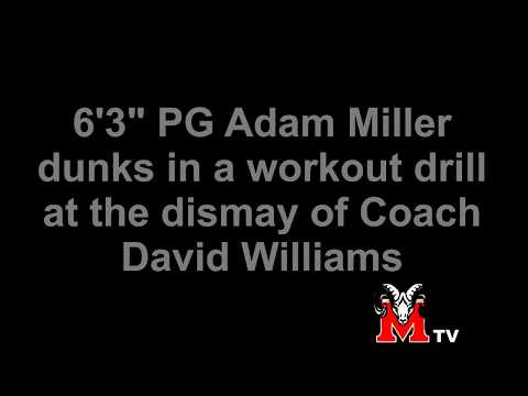 "[ PEORIA Manual TV ] 6'3"" Freshman Adam Miller Dunks in a Workout"