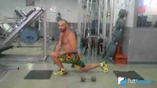 видео Как правильно делать выпады с гантелями и штангой