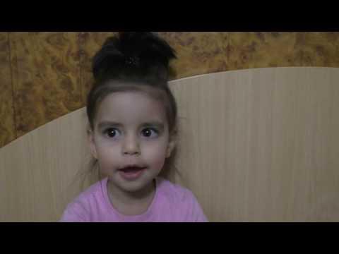 Видео, Алина смешно считает числа