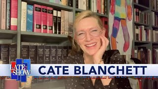 Cate Blanchett Has Some Suggestions For Stephen's At-Home Late Show Set