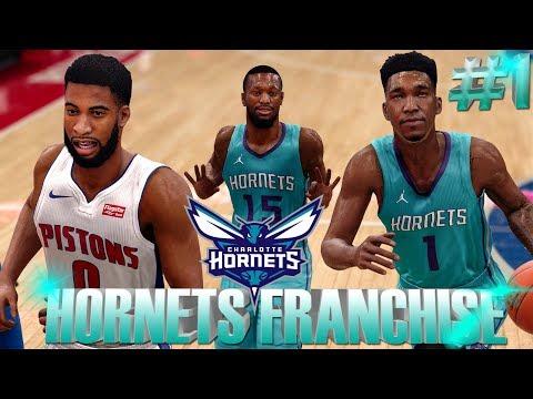 NBA LIVE 18 FRANCHISE MODE!!! REBUILDING THE CHARLOTTE HORNETS #1 THE NAIL BITER THE GAME-WINNER!!!
