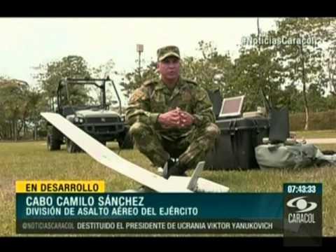 Exlusivo Noticias Caracol: Drones del Ejército Nacional de Colombia