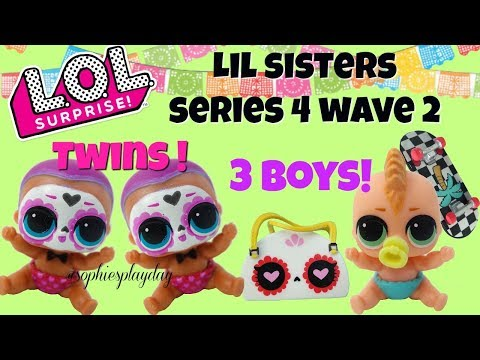 LOL Surprise SERIES 4 WAVE 2  Lil Sisters Unboxing Ultra Rare Boy FOUND Lil Bebe Bonito Twins