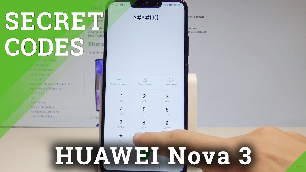 Secret Codes HUAWEI Nova 3 - Hidden Mode / Advanced Options / Tricks  |HardReset Info