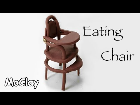 Diy dollhouse accessories vintage eating high chair – Dolls house furniture