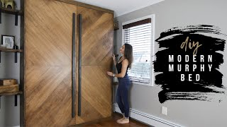 How To Build A DIY Modern Murphy Bed