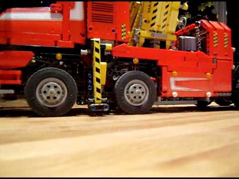 lego technic 8258 camion convoie exceptionnel youtube. Black Bedroom Furniture Sets. Home Design Ideas