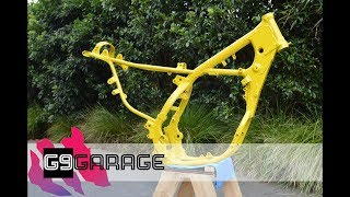 Frame Repair and Paint - 1992 RM250 Restoration - Episode 12