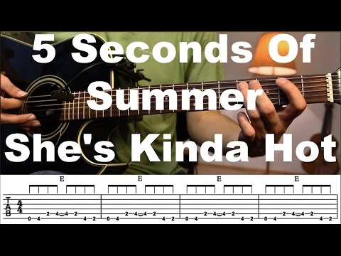 She's Kinda Hot - 5 Seconds Of Summer Guitar tutorial with TAB / Guitar Lesson/Guitar Cover