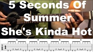 She's Kinda Hot - 5 Seconds Of Summer Guitar tutorial with TAB / Guitar Lesson/Guitar Cover Mp3