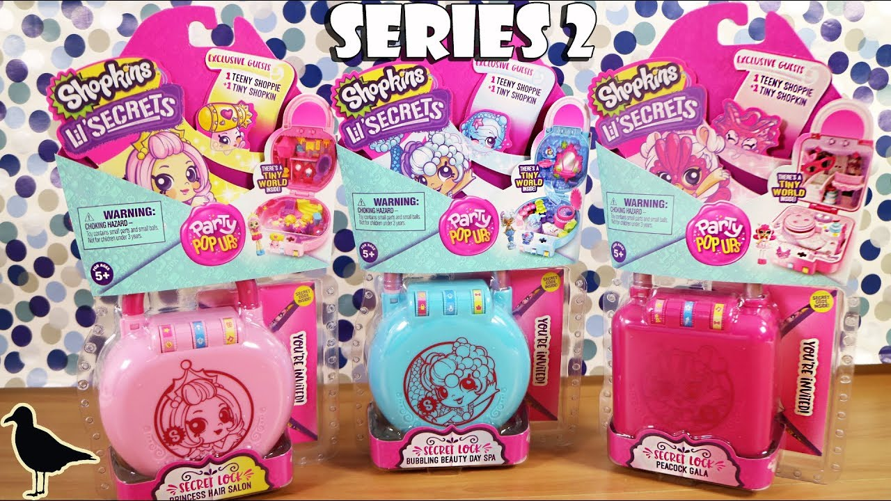 55ea15a5cdf Series 2 Shopkins Lil  Secrets Secret Lock Toy Unboxing! Party Pop Ups!