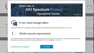IBM Spectrum Protect 8.1.2 Operations Center TLS 1.2 - Demo
