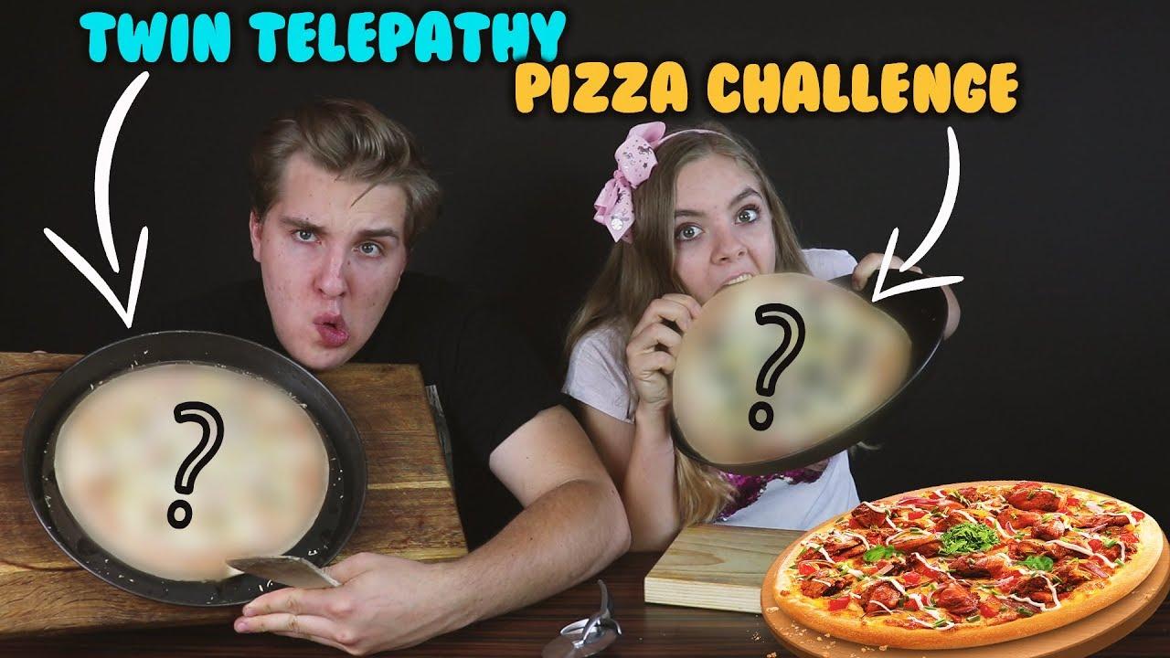 Twin Telepathy Pizza Challenge Lea Youtube