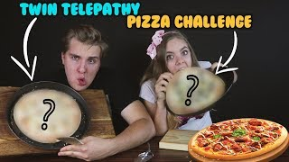Twin telepathy PIZZA challenge   /LEA