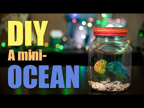 How to create a mini-ocean with recycled materials