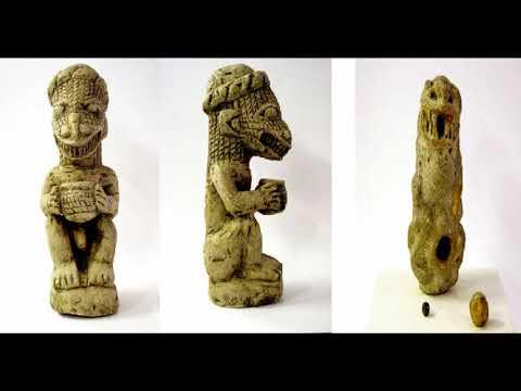 Mysterious Nomoli figures, Sierra Leone, Africa
