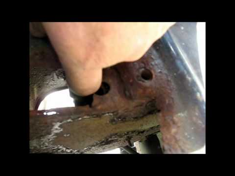 Welding and cutting rust repair on Jeep CJ7