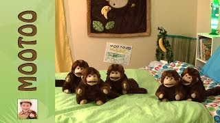 Mootoo and Declan: 5 Little Monkeys Jumping On The Bed