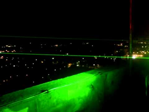 Laser beam over the city 1 - 10,000mW