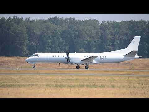 United States Department of Justice Saab 2000 [N92225] Takeoff From PDX
